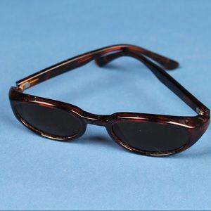 Vintage 2k Tortoise Shell Black Lens Sunglasses